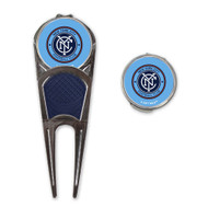 New York City FC Divot Repair Tool With Ball Marker and Hat Clip