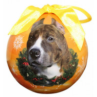 Pit Bull Christmas Ball Ornament