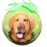Golden Retriever Christmas Ball Ornament