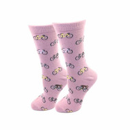 Bicycles One Size Fits Most Blush Pink Ladies Crew Socks