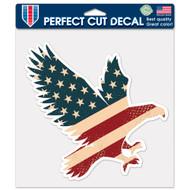 """USA Eagle Flag 8""""x8"""" Perfect Cut Decal"""