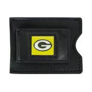 Green Bay Packers Leather Money Clip and Card Case