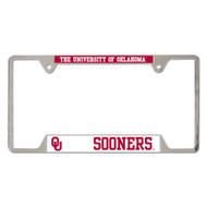 University of Oklahoma Metal License Plate Frame