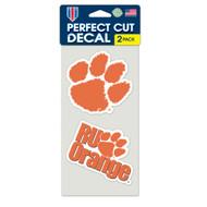 "Clemson University 4""x4"" Logo Decal (2-Pack)"