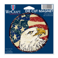 """USA Flag Eagle Die Cut 4.5"""" x 6"""" Car Magnet"""