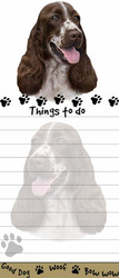 Springer Spaniel Magnetic Sticky Note Pad