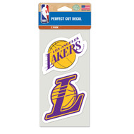 "Los Angeles Lakers 4""x4"" Logo Decal (2-Pack)"