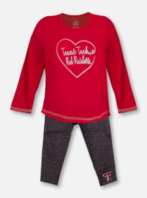 "Arena Texas Tech Red Raiders ""Ice"" INFANT Long Sleeve T-Shirt and Metallic Legging Set"