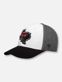 """Top of the World Texas Tech Red Raiders Lone Star Pride Logo """"Hustle"""" Stretch Fit Cap"""