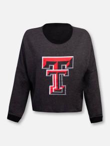 "Texas Tech Red Raiders Double T ""Flash Dance"" Long Sleeve Crop Top"