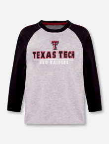 """Arena Texas Tech Red Raiders Double T """"Toesidel"""" TODDLER Long Sleeve Raglan"""