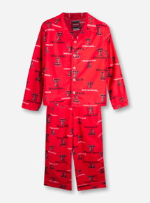 Texas Tech Red Raiders Double T YOUTH 2 Piece Pajama Set