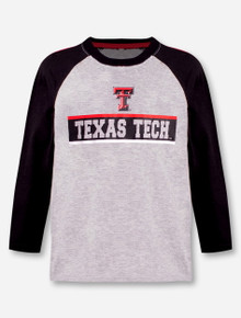 """Arena Texas Tech Red Raiders Double T """"Toeside"""" YOUTH Long Sleeve Raglan T-Shirt"""