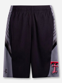 """Under Armour Texas Tech Red Raiders """"Peak"""" YOUTH Black Shorts"""