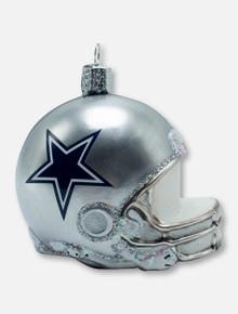 =Texas Tech Red Raiders Dallas Cowboys Helmet Glass Blown Ornament