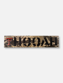 "Texas Tech Red Raiders Double T ""Hooyah"" on Air Force Digi Camo Wall Decor"
