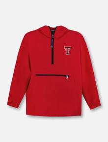 "Charles River Texas Tech Red Raiders ""Pack-N-Go"" YOUTH 1/4 Zip Pullover Hoodie"