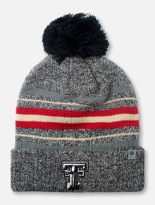 "Top of the World Texas Tech Red Raiders Black and White Double T ""Sockhop"" YOUTH Knit Beanie"