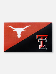 Texas Tech Red Raiders TTU/UT Black and Orange 3' x 5' Silk Screen Flag