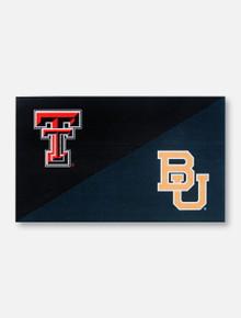 Texas Tech Red Raiders  TTU/BU Black and Green 3' x 5' Silk Screen Flag