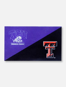 Texas Tech Red Raiders TTU/TCU Black and Purple 3' x 5' Silk Screen Flag
