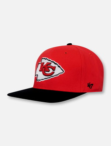 47 Brand Texas Tech Red Raiders Kansas City Chiefs 2 tone Strapback Adjustable Cap