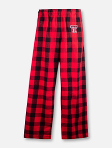 Texas Tech Red Raiders Double T  YOUTH Plaid Flannel Pants
