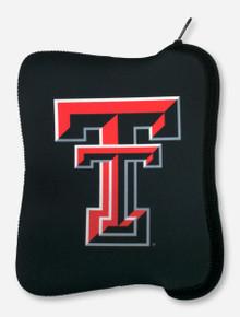 Texas Tech Double T on Black Neoprene Tablet Case