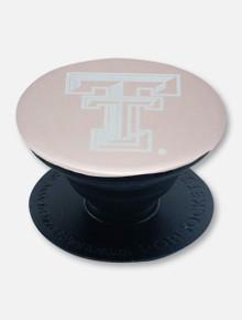 Texas Tech Red Raiders Double T Rose Gold Metallic Metal Pop Socket Grip Stand