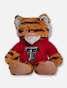 "Texas Tech Red Raiders Tiger ""Snugglerz"" with Double T Hoodie Plush Toy"