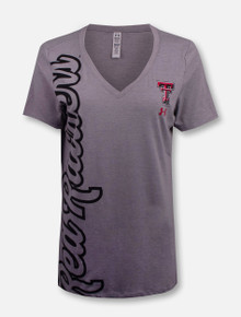 "Under Armour Women Texas Tech Red Raiders ""Sideways"" V Neck T-Shirt"