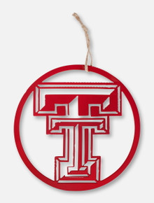 Texas Tech Red Raiders Double T 8' Round Metal Ornament
