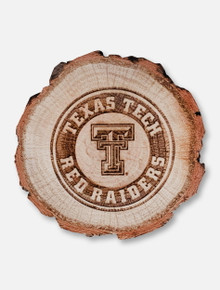Jenkins Texas Tech Red Raiders Double T Etched Tree Stump Wooden Magnet