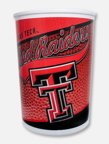 Texas Tech Red Raiders Double T Wrapped Wastebasket