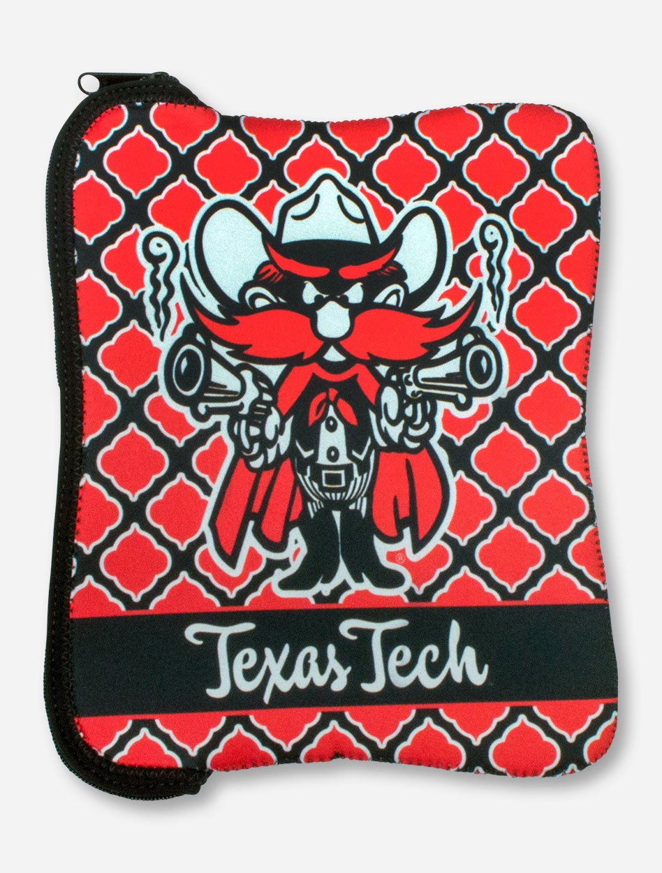 Raider Red Texas Tech Red Black Neoprene Tablet Case Red Raiders