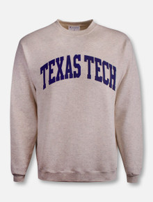 Champion Texas Tech Red Raiders Powerblend Fleece Navy Arch Crew Sweatshirt