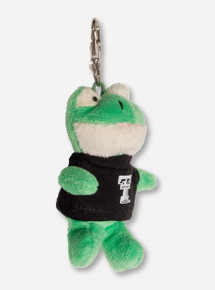 Texas Tech Plush Frog In Double T T-Shirt Keychain