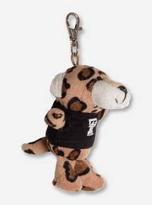 Texas Tech Plush Leopard In Double T T-Shirt Keychain