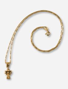 DaynaU Texas Tech Double T Gold Necklace