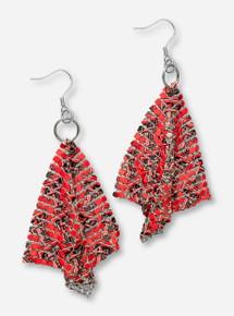DaynaU Texas Tech Double T Red Mesh Earrings