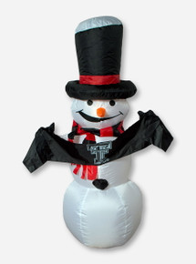Inflatable Light Up Snowman with Double T Banner Yard Decor