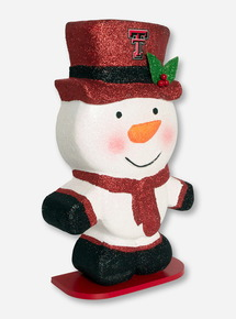 Large Glitter Snowman Christmas Decoration