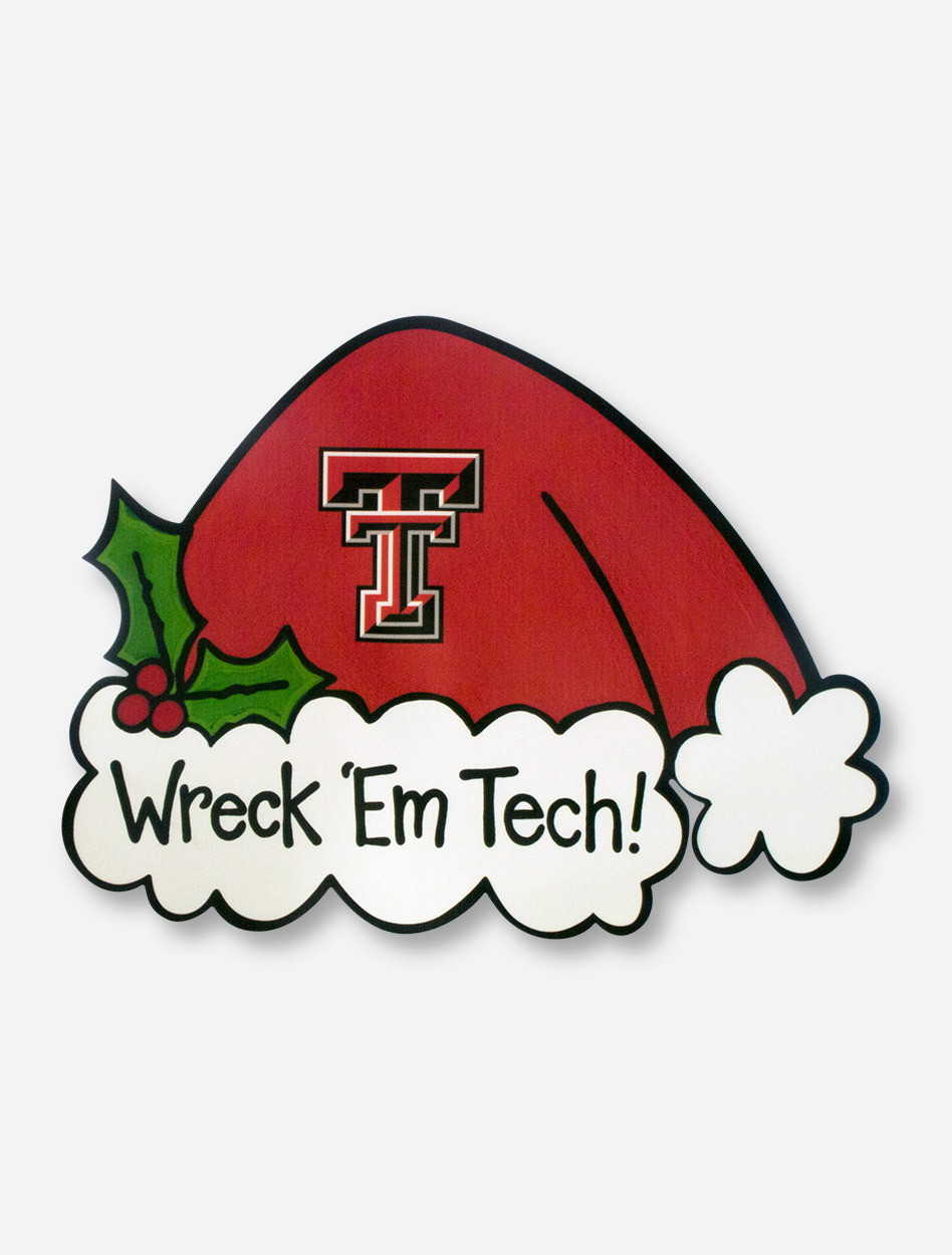 Wreck Em Tech Santa Hat Tree Topper Texas Tech Red Raiders