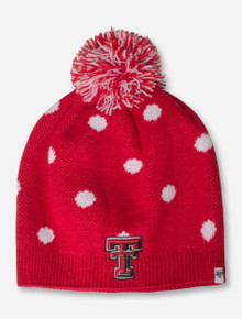 Texas Tech Snow Dot YOUTH Red & White Beanie