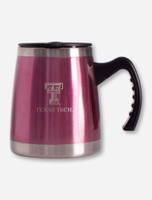 Texas Tech Etched Double T Steel Travel Mug