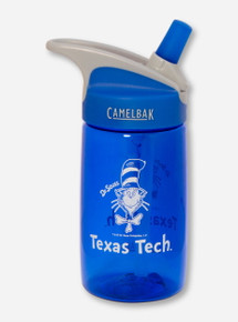 Texas Tech Dr Seuss Cat in the Hat Water Bottle