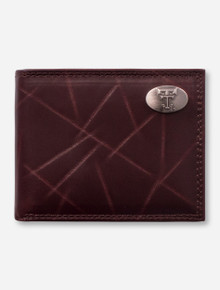 Texas Tech Double T Emblem on Leather Wallet