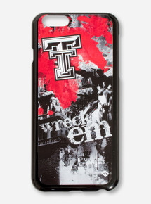 "Guard Dog Texas Tech ""Spirit"" Wreck 'Em Red, Black & White Cell Phone Case"