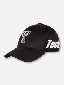 Top of the World Texas Tech Double T on Black Sized Stretch Fit Cap