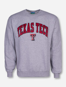 Tackle Twill Texas Tech Arch Over Double T Sweatshirt